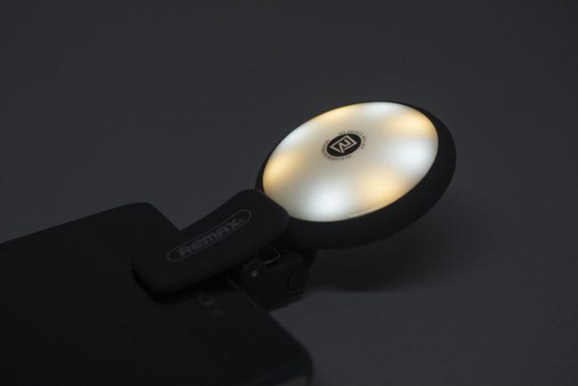 スマホ-自撮り-LEDライト