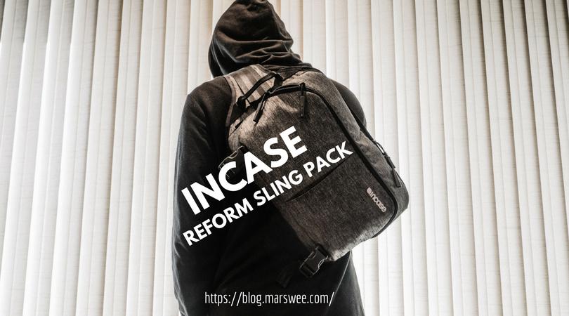cc6d768b06b3 「INCASE Reform sling Pack」スリムなショルダーバッグで収納ポケット多数!これは使いやすい