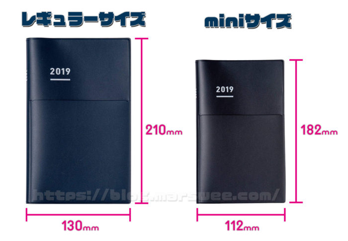 58d6a00ba2 ジブン手帳は通常版、Biz、Springともに「レギュラーサイズ」と「miniサイズ」の2種類に統一されています。まずは、自分の手帳がレギュラーサイズかminiサイズの  ...