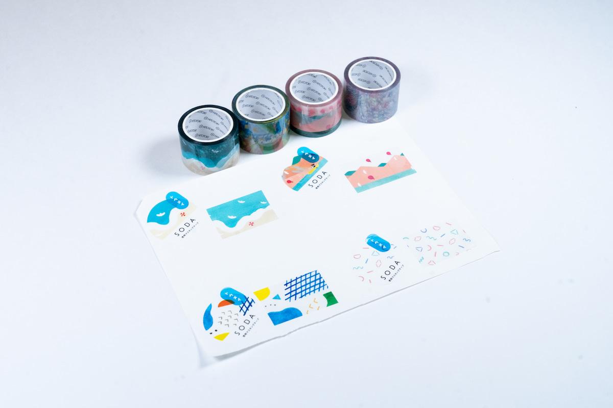 透明マスキングテープ-ソーダ-レビュー